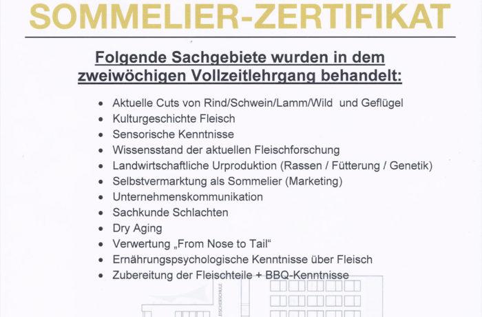 Fleischsommelier-Zertifikat